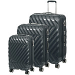 American Tourister Zavis Hardside Suitcase Set of 3 Graphite 70570, 70572, 70573 with FREE Samsonite Luggage Scale 34042