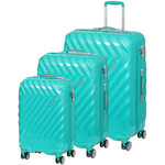 American Tourister Zavis Hardside Suitcase Set of 3 Pastel Turquoise 70570, 70572, 70573 with FREE Samsonite Luggage Scale 34042