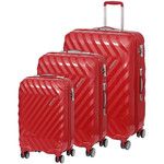 American Tourister Zavis Hardside Suitcase Set of 3 Autumn Red 70570, 70572, 70573 with FREE Samsonite Luggage Scale 34042