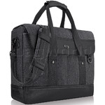 "Solo Bradford 15.6"" Laptop & Tablet Briefcase Messenger Black Denim XE136"