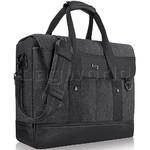 "Solo Bradford 15.6"" Laptop & Tablet Briefcase Messenger Black Denim XE136"