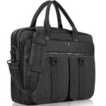 "Solo Bradford 15.6"" Laptop & Tablet Briefcase Black Denim XE335"