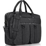 "Solo Bradford 15.6"" Laptop & Tablet Briefcase Black Denim XE335"