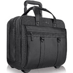 "Solo Bradford 17.3"" Laptop & Tablet Rolling Case Black Denim XE935"