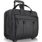 "Solo Bradford 17.3"" Laptop & Tablet Rolling Case Black Denim XE935"