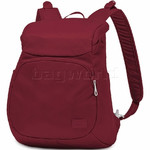"Pacsafe Citysafe CS300 RFID Blocking Anti-Theft Compact 11""  Laptop Backpack Cranberry 20230"