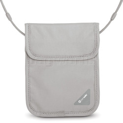 Pacsafe Coversafe X75 Anti-Theft RFID Blocking Neck Pouch Grey 10148