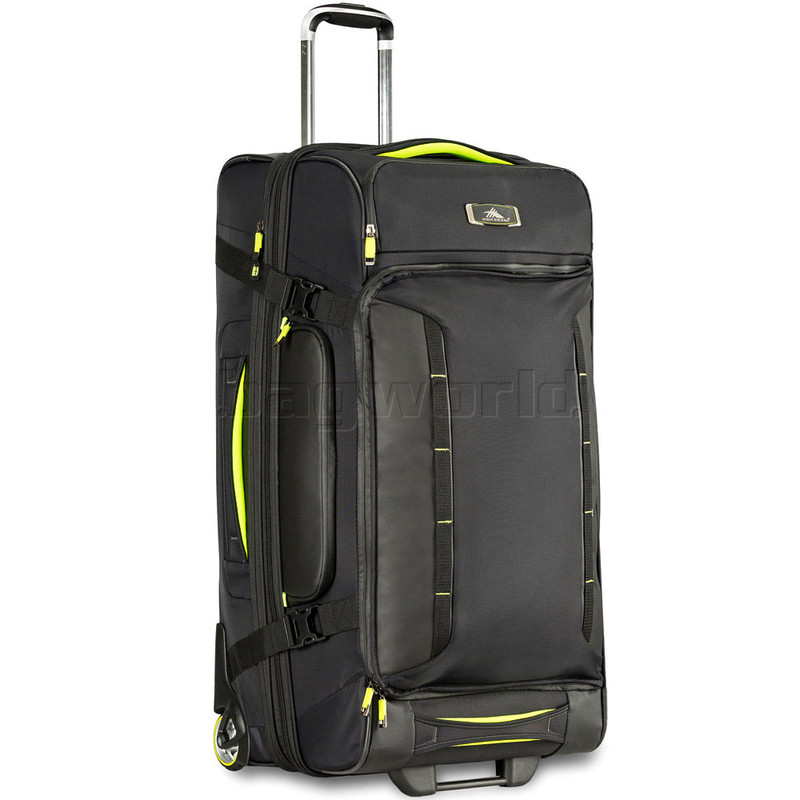 High Sierra AT8 Large 81cm Drop Bottom Wheel Duffel with Backpack Straps  Black 67927 d4def4bcf2dc7
