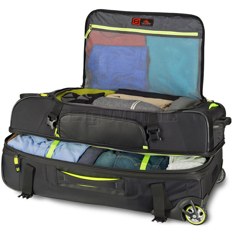 7c0bd0d8326 High Sierra AT8 Drop Bottom Wheel Duffel with Backpack Straps Set of 3 Black  73227, 67926, 67927 with FREE Samsonite Luggage Scale 34042
