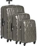 Antler Atlas Hardside Suitcase Set of 3 Charcoal 39626, 39623, 39622 with FREE GO Travel Luggage Scale G2008