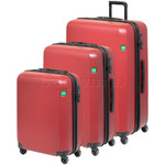 Lojel Rando Hardside Suitcase Set of 3 Brick Red JRA55, JRA68, JRA77 with FREE Lojel Luggage Scale OCS27