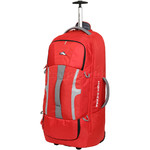 High Sierra Composite Large 84cm Wheeled Duffel with Backpack Straps Crimson 63218