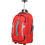 High Sierra Composite Small/Cabin 56cm Wheeled Duffel with Backpack Straps Crimson 63216