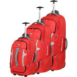 High Sierra Composite Wheeled Duffel with Backpack Straps Set of 3 Crimson 63216, 63217, 63218 with FREE Samsonite Luggage Scale 34042