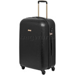 Qantas Mascot Medium 66cm Hardside Suitcase Black Q440B