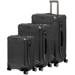 Qantas Cloncurry Hardside Suitcase Set of 3 Black Q390A, Q390B, Q390C with FREE Go Travel Luggage Scale G2008