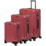 Qantas Cloncurry Hardside Suitcase Set of 3 Red Q390A, Q390B, Q390C with FREE Go Travel Luggage Scale G2008