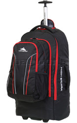 High Sierra Composite Large 76cm Backpack Wheel Duffel & Zip Off Day Pack Black 67996