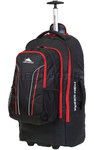 High Sierra Composite Large 76cm Wheeled Duffel with Backpack Straps & Zip Off Day Pack Black 67996