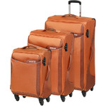American Tourister Applite 2.0 Softside Suitcase Set of 3 Dark Orange 68052, 68053, 68054 with FREE Travelon Luggage Scale 12775