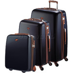 Jump Nice Hardside Suitcase Set of 3 Navy J6553, J6551, J6552 with FREE Go Travel Luggage G2008
