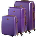 Jump Nice Hardside Suitcase Set of 3 Purple J6553, J6551, J6552 with FREE Go Travel Luggage G2008