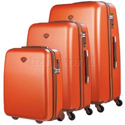 Jump Nice Hardside Suitcase Set of 3 Orange J6553, J6551, J6552 with FREE Go Travel Luggage G2006