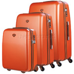 Jump Nice Hardside Suitcase Set of 3 Orange J6553, J6551, J6552 with FREE Go Travel Luggage G2008