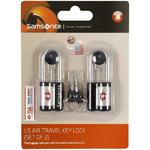 Samsonite Travel Accessories Safe US Key Lock Set of 2 Black 61598