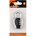 Samsonite Travel Accessories Safe 3 Combination Lock Black 62130