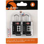 Samsonite Travel Accessories Safe US 3 Combination Lock Set of 2 Black 73271