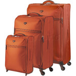 Jump Nice Softside Suitcase Set of 3 Orange J6570, J6572, J6573 with FREE GO Travel Luggage Scale G2006