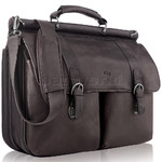 "Solo Classic Leather 16"" Laptop Portfolio Espresso D535"