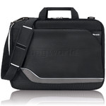 "Solo Vector CheckFast 17.3"" Laptop Clamshell Briefcase Black TR325"