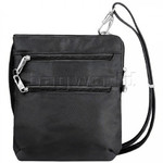 Travelon Classic RFID Blocking Anti-Theft Slim Double Zip Crossbody Bag Black 43116