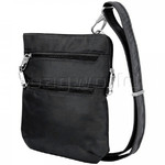 Travelon Classic Anti-Theft Slim Double Zip Crossbody Bag Black 43116 - 2