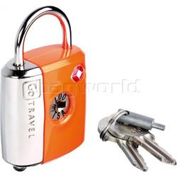 GO Travel Dual Combi/Key TSA Lock Orange GO337