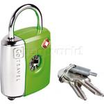 GO Travel Dual Combi/Key TSA Lock Green GO337