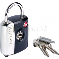 GO Travel Dual Combi/Key TSA Lock Black GO337