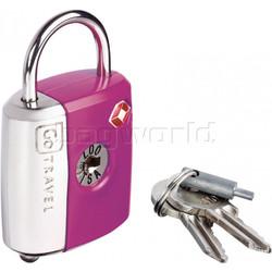 GO Travel Dual Combi/Key TSA Lock Purple GO337