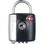 GO Travel Dual Combi/Key TSA Lock Black GO337 - 1