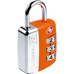 GO Travel Big Wheel TSA Combination Padlock Orange GO345