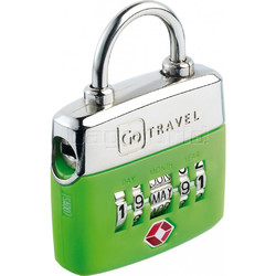 GO Travel TSA Birthday Lock Green GO355