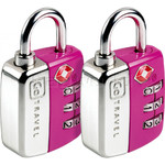 GO Travel Twin Travel Sentry Locks Pink GO344