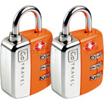GO Travel Twin Travel Sentry Locks Orange GO344