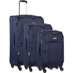 Antler Airstream 2 Softside Suitcase Set of 3 Navy 09810, 09816, 09826 with FREE GO Travel Luggage Scale G2008