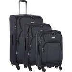 Antler Airstream 2 Softside Suitcase Set of 3 Charcoal 09810, 09816, 09826 with FREE GO Travel Luggage Scale G2008