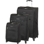 Swiss Gear Cyprus Softside Suitcase Set of 3 Black 8600C, 8600B, 8600A with FREE GO Travel Luggage Scale G2008