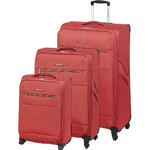 Swiss Gear Cyprus Softside Suitcase Set of 3 Sunset 8600C, 8600B, 8600A with FREE GO Travel Luggage Scale G2008