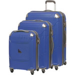 Qantas Longreach Hardside Suitcase Set of 3 Blue Q530A, Q530B, Q530C with FREE Go Travel Luggage Scale G2008